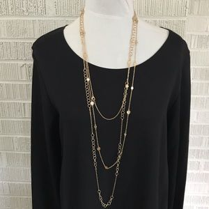 Jewelry - Long thin gold layering chain necklaces set of 2